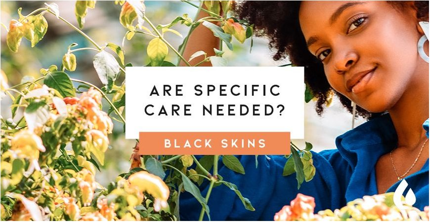 Does black skin need specific skin care and cosmetic products?