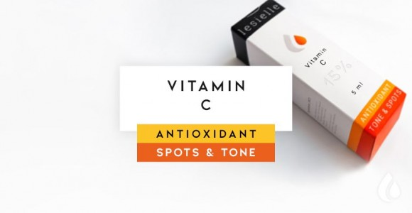 Vitamin C (Ascorbic acid). An active antioxidant, anti-aging and anti-skin pigment discoloration.