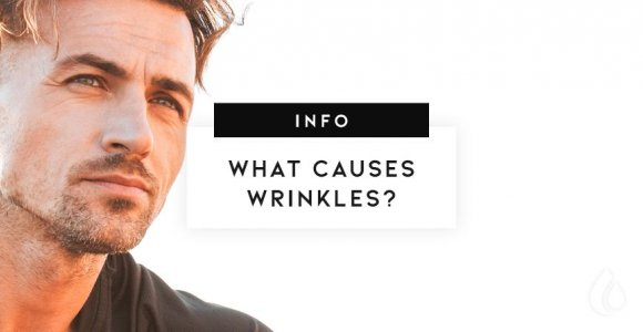 What causes wrinkles on the face?