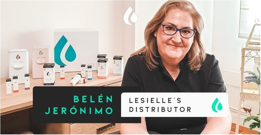 """Belén Jerónimo: """"I'm always looking for innovations. Now, Lesielle has entered our lives."""""""